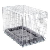 Double Door Transport Cage with Cushion - Size L: 89 x 60 x 66 cm (L x W x H)