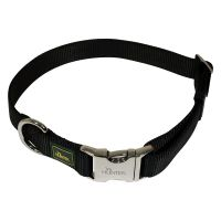 Hunter Vario Basic Alu-Strong Dog Collar - Black - Size L: 45-65cm neck circumference