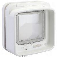 SureFlap DualScan Microchip Kattenluik Adapter voor montage in glas wit