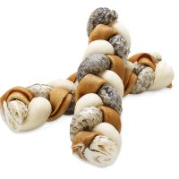 Rocco Smoked Rawhide Plaited Chews - 4 Plaited Chew Sticks (approx. 17cm each) - smoked