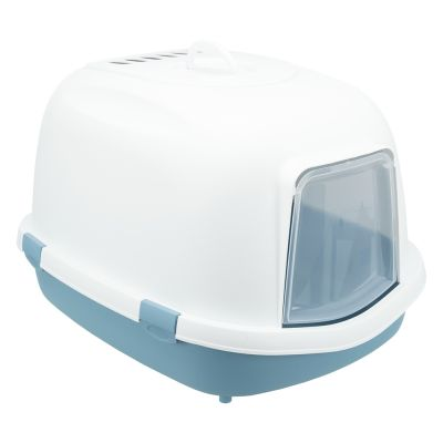 Trixie Primo XXL Top -kissanvessa, kannellinen - sininen/valkoinen
