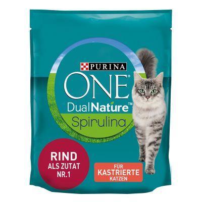 Purina ONE Dual Nature Gatos esterilizados buey y espirulina - 1,4 kg