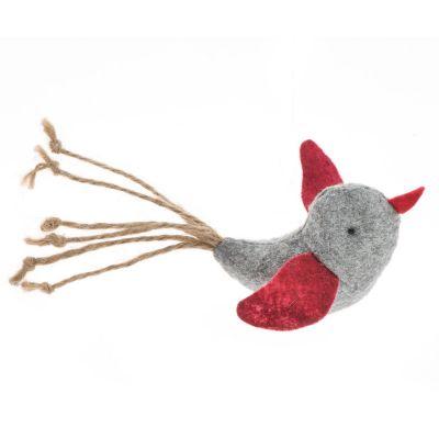zoolove hračka pro kočky plstěný pták 1 kus