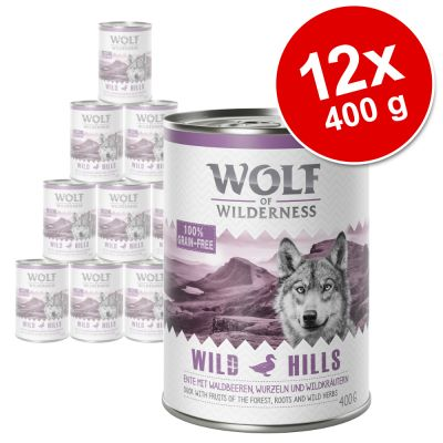 Pack Ahorro: Wolf of Wilderness 12 x 400 g - Arctic Spirit, con reno