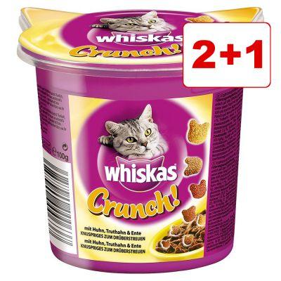 3 x Whiskas-kissanherkut: 2 + 1 kaupan päälle! - Temptations, lohi (3 x 60 g)