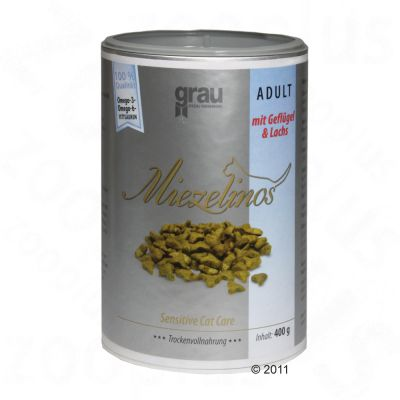 grau-miezelinos-adult-med-fjerkra-og-laks-25-kg