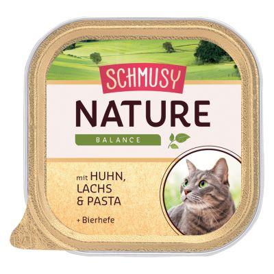 Sparpaket Schmusy Nature Balance Schälchen 24 x 100 g - Huhn, Lachs, Pasta & Bierhefe