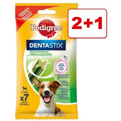 3 x 7 kpl Pedigree Dentastix Daily Fresh: 2 +1 kaupan päälle! – keskikokoisille koirille