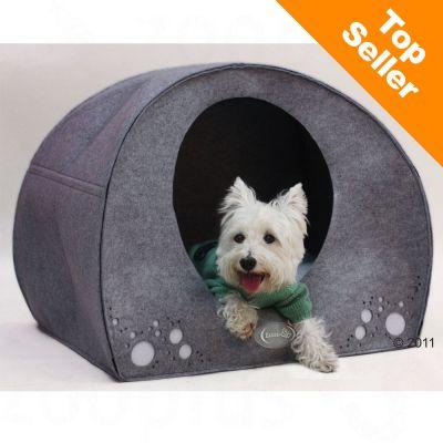 Hund-igloo av filt – B 95 x D 76 x H 79 cm