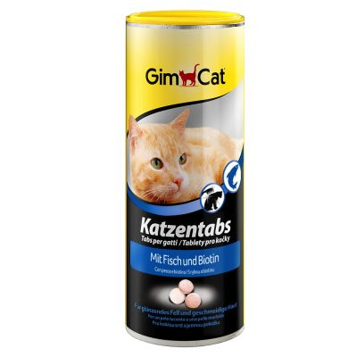 GimCat Tabs with Fish & Biotin - 350 kpl