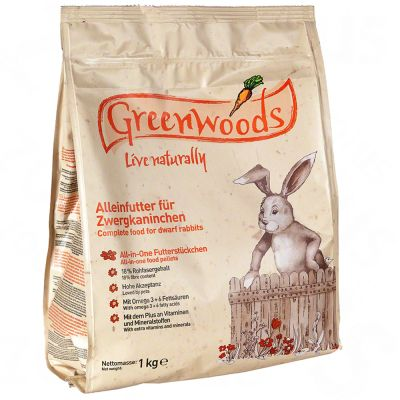 Greenwoods dvärgkaninfoder – 3 kg
