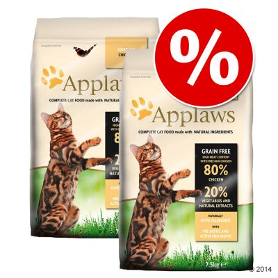 Applaws-säästöpakkaus, 2 x 7,5 kg / 6 kg - 2 x 6 kg Adult Ocean Fish & Salmon