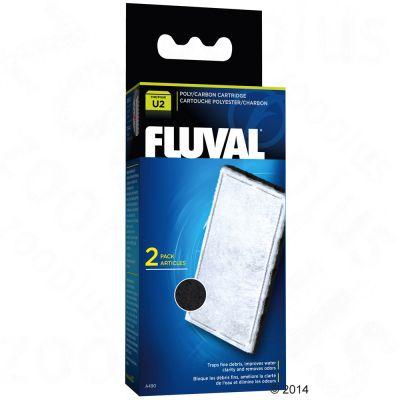 Hagen Fluval U Serie filterinlägg av aktivt kol – 2 filterinlägg för U4