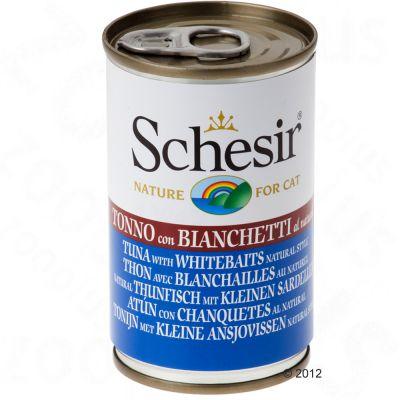 schesir-kattenvoer-6-x-140-g-tonijn-met-ham-in-bouillon