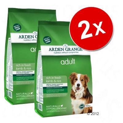 Lot Arden Grange pour chien - Adult poulet, riz (2 x 12 kg)
