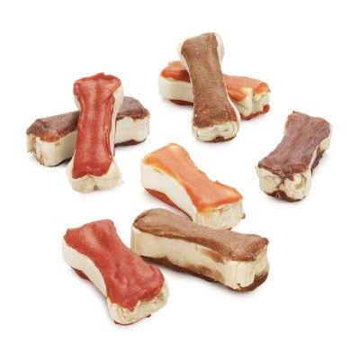 Blandat provpack: Lukullus goda tuggben – Kyckling, Anka med sötpotatis & timjan, Lax, Lamm (12 x 5 cm av varje)