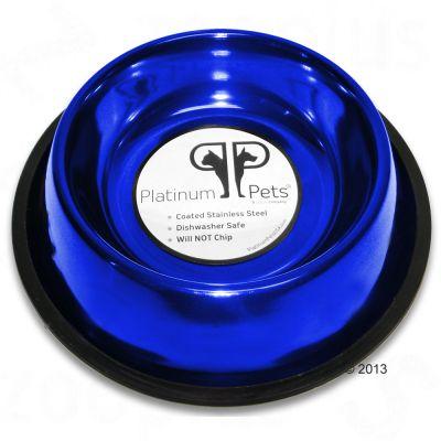 Platinum Pets Saphir Blue skål i rostfritt stål – 950 ml, 26 cm