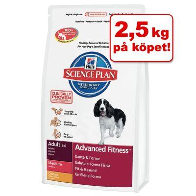 12 kg + 2,5 kg på köpet! 14,5 kg Hill's hundfoder – Adult Advanced Fitness Medium
