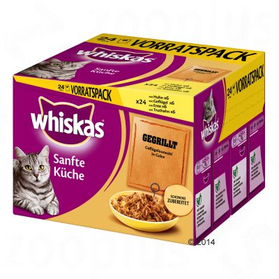 Ekonomipack: Whiskas Simply 24 x 85 g – Grillat blandpack