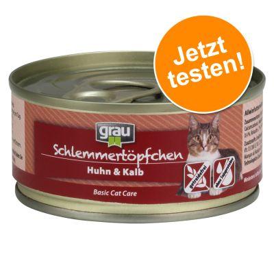 Grau Schlemmertöpfchen getreidefrei 1 x 100 g - Huhn & Kalb