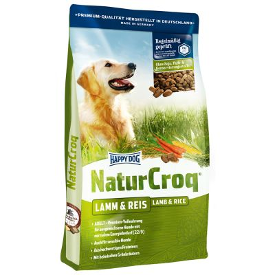 - Happy Dog Natur Croq Snack Lam &amp, Rijst - 350 g