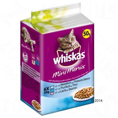 Whiskas Mini Menue 6 x 50 g – Kyckling & morätter, öring, kanin & ärtor