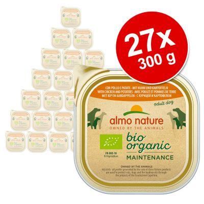 Almo Nature BioOrganic Maintenance -lajitelma 27 x 300 g - luomu kana & luomu peruna