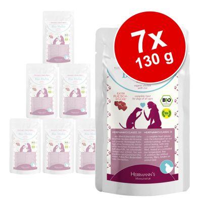Herrmanns Menu Pouch -koiranruoka lajitelmapakkauksessa - 14 x 130 g