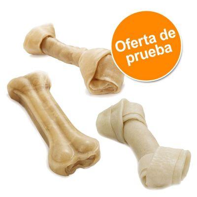 Barkoo huesos masticables de piel de vacuno - Pack de prueba - para perros pequeños 15 ud. (690 g)