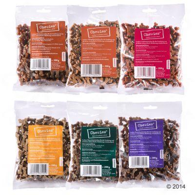 Chewies Miniben Multipack 6 x 125 g – Fågel, Lax, Lamm, Våm, Nötkött & Vilt