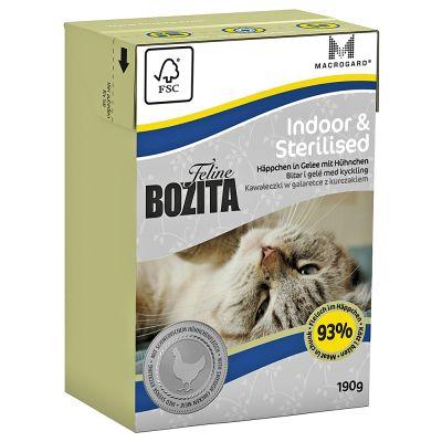 Bozita Feline Tetra Recart 6 x 190 g - Sensitive Hair & Skin