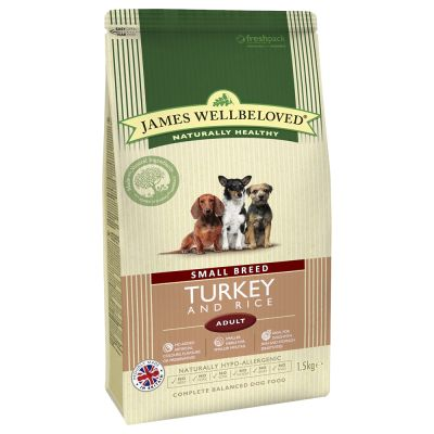 James Wellbeloved Adult Small Breed Turkey & Rice - 1,5 kg