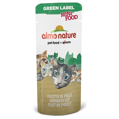 Image of Almo Nature Green Label Mini Food - Hühnerfilet (5 x 3 g)