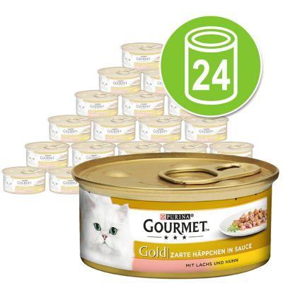Purina Gourmet Gold Bocaditos en Salsa 24 x 85 g - Pack Ahorro - Pollo e hígado