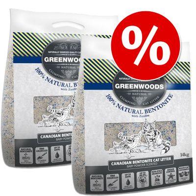 Säästöpakkaus: Greenwoods-luonnonsavihiekka 2 x 14 l - 2 x 14 kg