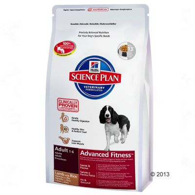 hill-canine-adult-advanced-fitness-lam-rijst-dubbelpak-2-x-12-kg