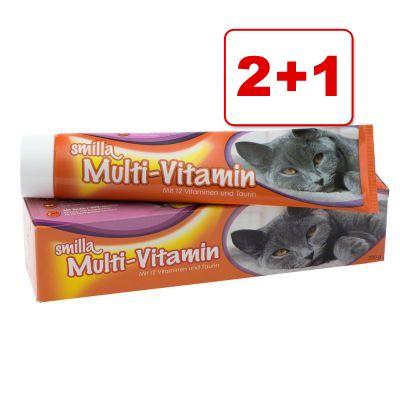 2 + 1 kaupan päälle! Smilla-kissantahnat 3 kpl - 3 x 200 g Smilla Multi-Vitamin