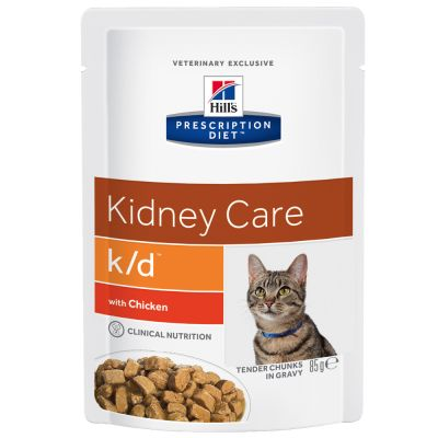 Hill's Prescription Diet Feline k/d Kidney Care - kana - säästöpakkaus: 48 x 85 g