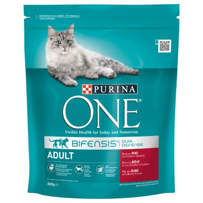 Purina ONE Adult Beef & Whole Grain Cereals - 800 g