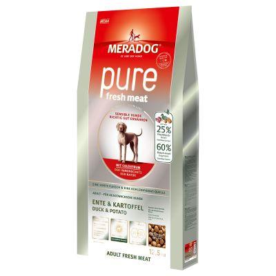 Meradog Pure Adult Fresh Meat Duck & Potato, viljaton - 12,5 kg
