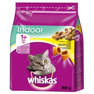 Whiskas 1+ Indoor Huhn - 800 g