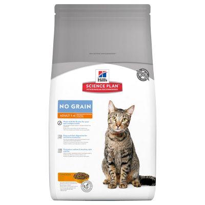 Hill's Science Plan Feline Adult No Grain Kip Kattenvoer - Dubbelpak: 2 x 2 kg