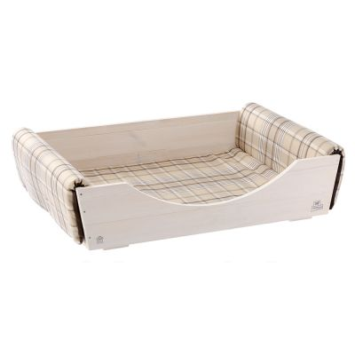 Ferplast puinen koiranpeti pehmusteella - P 107 x L 70 x K 25,2 cm