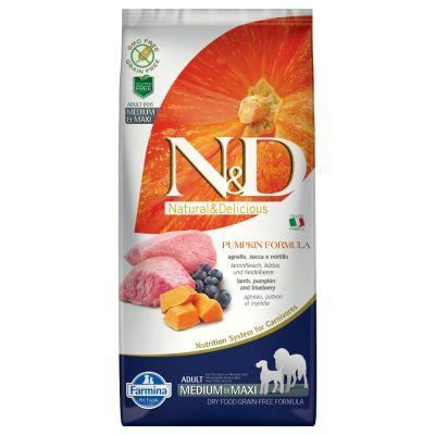 Farmina N&D Pumpkin Grain Free Adult Lamb & Blueberries Medium & Maxi - 12 kg