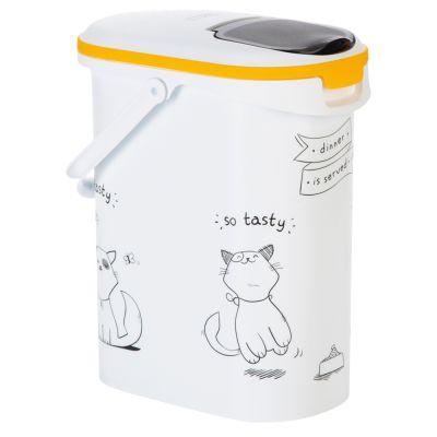 Kissakuvioinen Curver-kuivaruokasäiliö - alle 4 kg kuivaruokaa