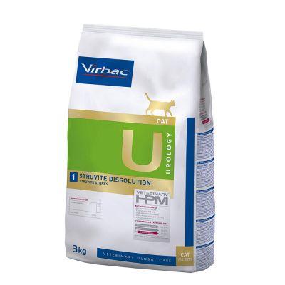 Virbac U1 Veterinary HPM Urology Struvite Dissolution para gatos - 2 x 3 kg - Pack Ahorro