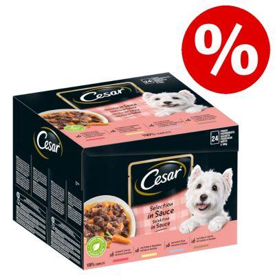 Cesar koiranruoka erikoishintaan -20 % - Classic, kana & kalkkuna (14 x 150 g)