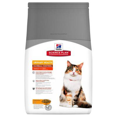 Hill's Science Plan Adult 1-6 Urinary Hairball Control Chicken - säästöpakkaus: 2 x 3 kg