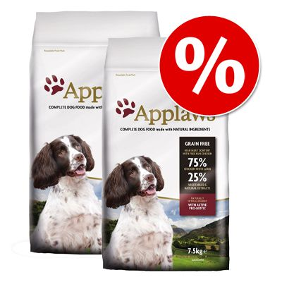 Ekonomipack: 2 stora påsar Applaws hundfoder till lågpris! - Adult Small & Medium Breed Chicken (2 x 15 kg)