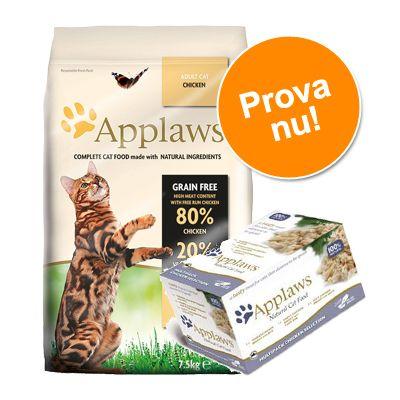 Prova-på-pris: 2 kg Applaws + 8 x 60 g Cat Pot Selection! – Chicken & Duck – spannmålsfritt